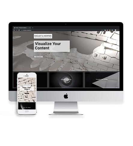 Umsetzung Webauftritt Raclet & Herter aus Frankfurt