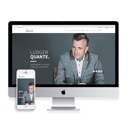 Umsetzung Webauftritt und Onlineshop Ludger Quante