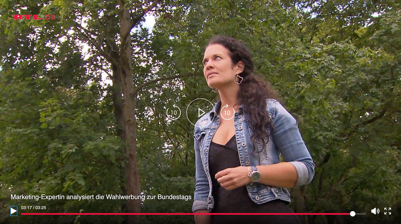 Marketingexpertin Sabrina Zebisch aus Königstein für RTL im Einsatz
